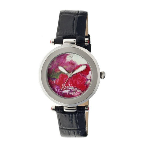 Sophie & Freda Butchart Leather-Band Ladies Watch - Black SAFSF1701