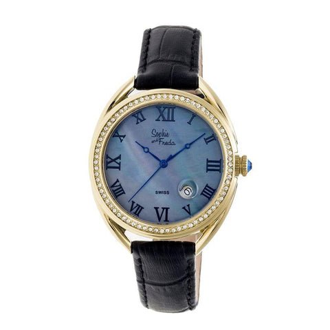 Sophie & Freda Austin MOP Swiss Ladies Watch - Gold/Black SAFSF2906
