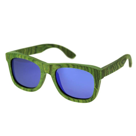 Spectrum Slater Wood Polarized Sunglasses - Green/Blue SSGS101BL