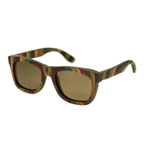 Spectrum Moriarty Wood Polarized Sunglasses - Multi/Brown SSGS107BN