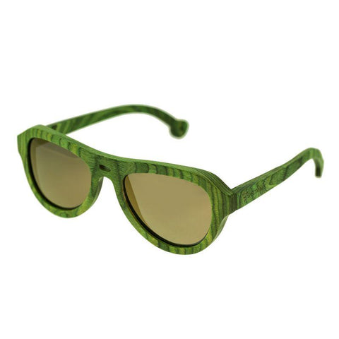 Spectrum Morrison Wood Polarized Sunglasses - Green/Gold SSGS108GD