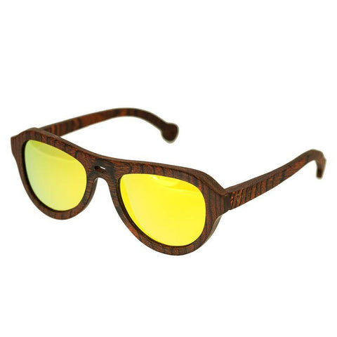 Spectrum Stroud Wood Polarized Sunglasses - Orange/Gold SSGS110GD