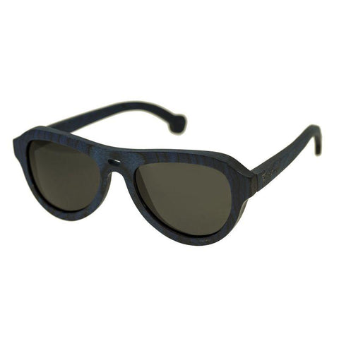 Spectrum Machado Wood Polarized Sunglasses - Blue/Black SSGS113BK