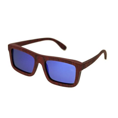 Spectrum Clark Wood Polarized Sunglasses - Cherry/Blue SSGS119BL
