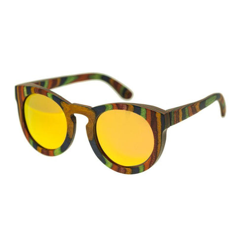 Spectrum Kekai Wood Polarized Sunglasses -Multi/Red SSGS125RD
