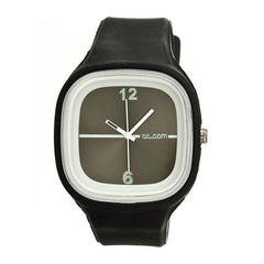 Flexi Black Rubber Watch