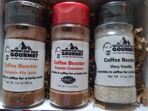 3-Pack Coffee Booster Gift Box -- Pumpkin Pie Spice, Organic Cinnamon, and Very Vanilla