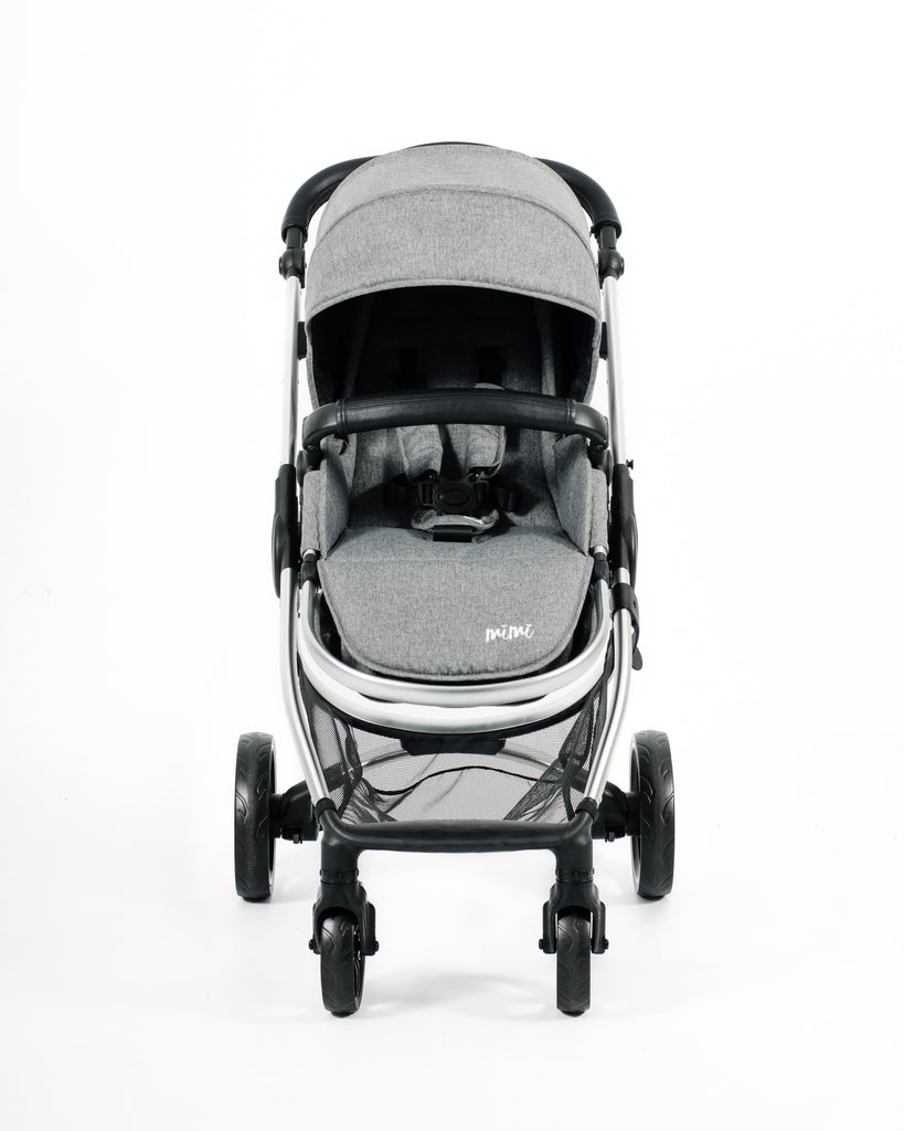 Mimi Luxe 3 in 1 - Carrycot Travel System | Misty Grey - (Pre-order)