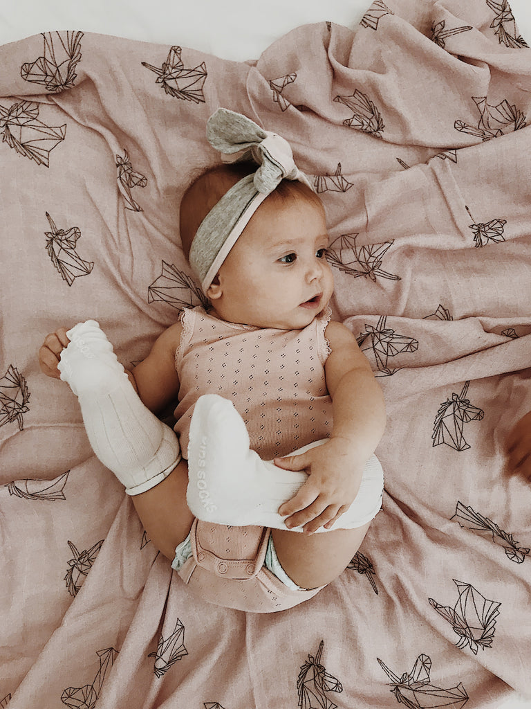 Miilk Geometric Unicorn Muslin