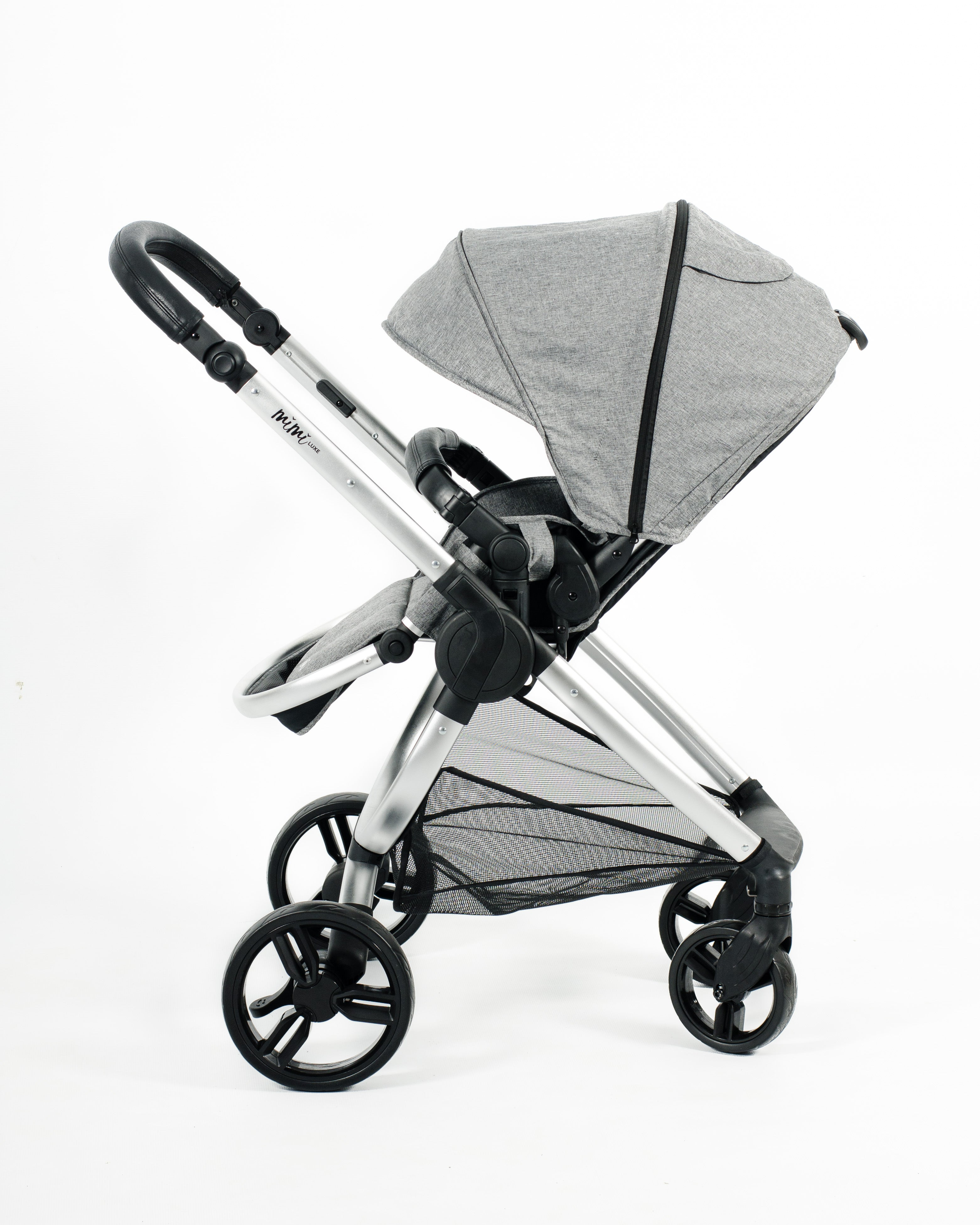 Mimi Luxe 2 in 1 - Carrycot Travel System | Misty Grey