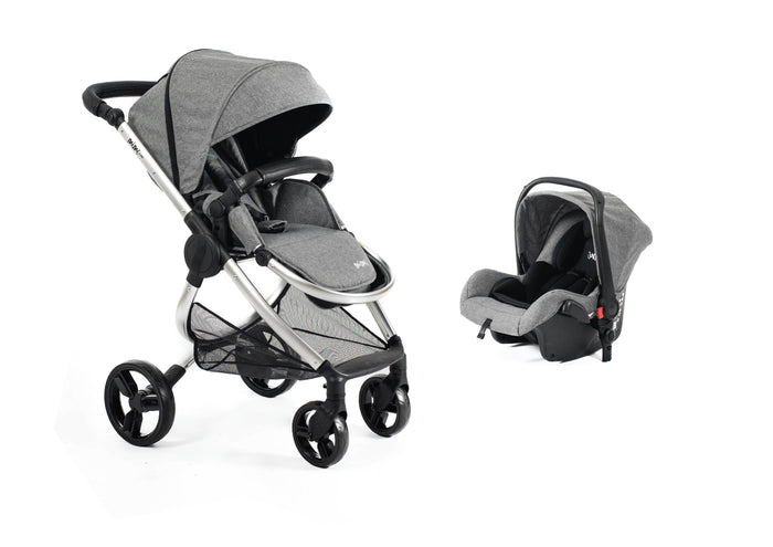 Mimi Luxe 2 in 1 Travel System | Misty Grey