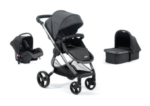Mimi Luxe 3 in 1 - Carrycot Travel System | Charcoal Grey