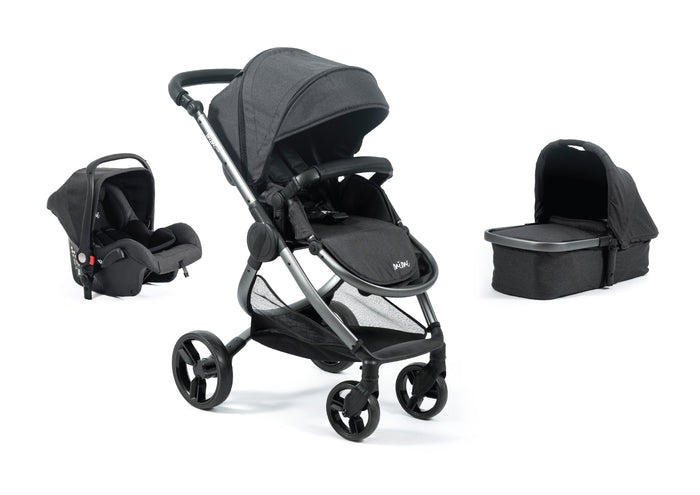 Mimi Luxe 3 in 1 - Carrycot Travel System | Charcoal Grey - (Pre-order)