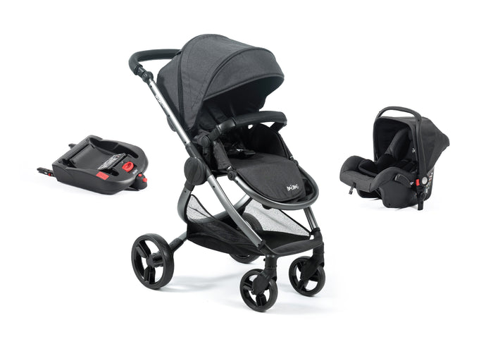 Mimi Luxe 3 in 1 -  Isofix Travel System | Charcoal Grey - (Pre-order)