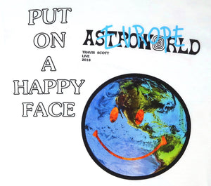 Travis Scott Astroworld Europe 18' Smiley World T-Shirt