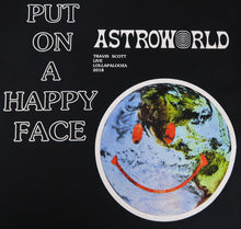 Travis Scott Lollapalooza Astroworld Smiley World T-Shirt