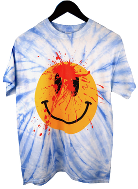 Playboi Carti Die Lit Tour Tie Dye Smiley Face T-Shirt