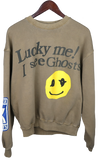 "KIDS SEE GHOSTS ""LUCKY ME"" CREWNECK"