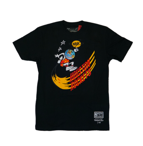 Travis Scott x BR x Mitchell & Ness Rockets Tee Black