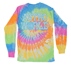 Travis Scott Astroworld Rainbow Tie Dye Long Sleeve