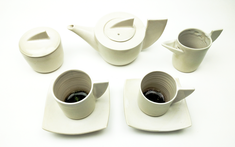 Teapot Set Cream