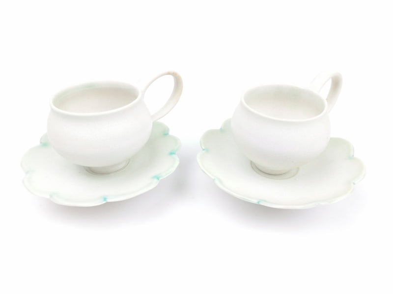 Flower Edged Demi-Tasses - Set of 2