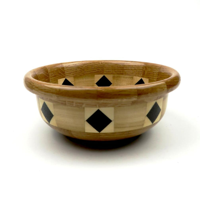 Wooden Bowl with Diamond within squares 2018 #156