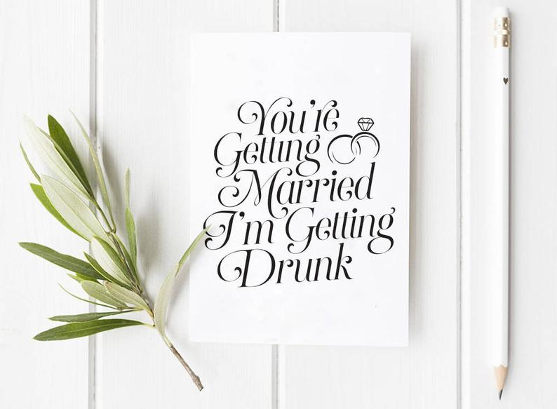 Greeting Card - You're Getting Married