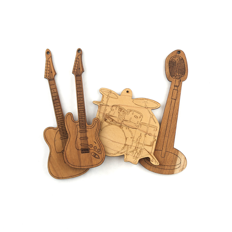 Wooden Music Magnet