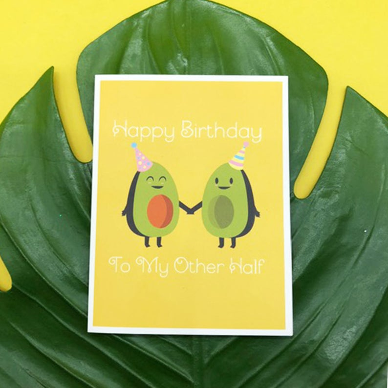 Greeting Card - Other Half Avocado Birthday