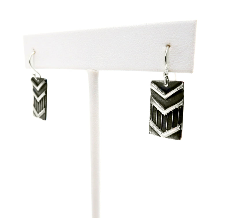 Rectangle Chevron Earring