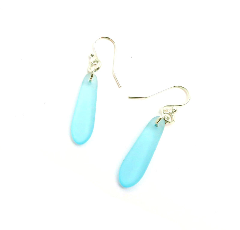 Cultured Glass Oblong Earrings
