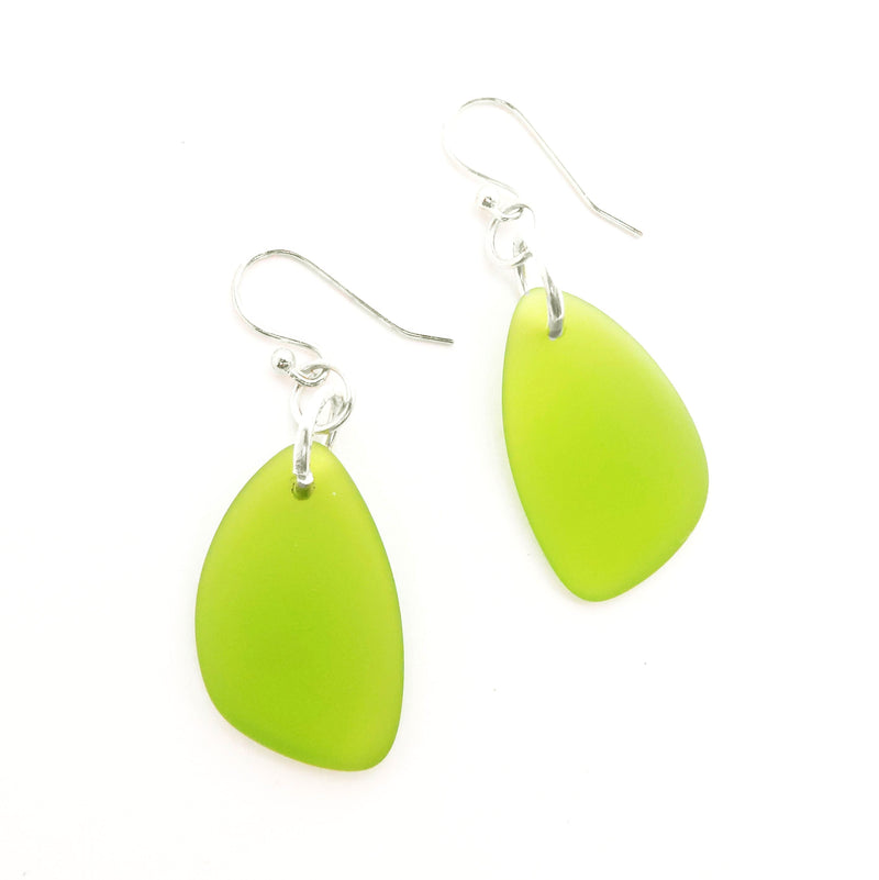 Cultured Glass Pear Shaped Earrings