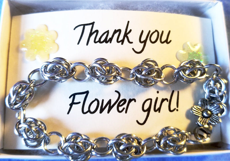 Bracelet - Thank You Flower Girl