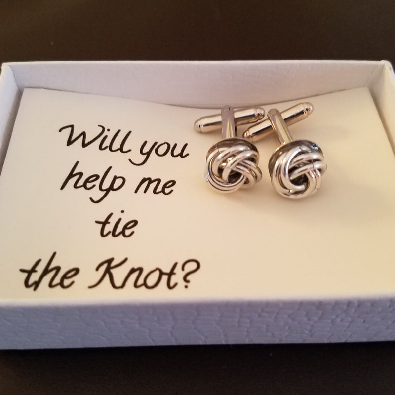 Cuff Links - Will You Help me Tie the Knot?