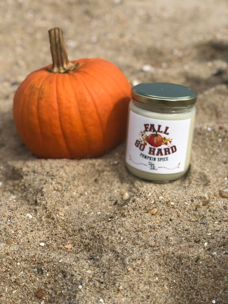 """Fall so hard"" Soy Wax Candle"
