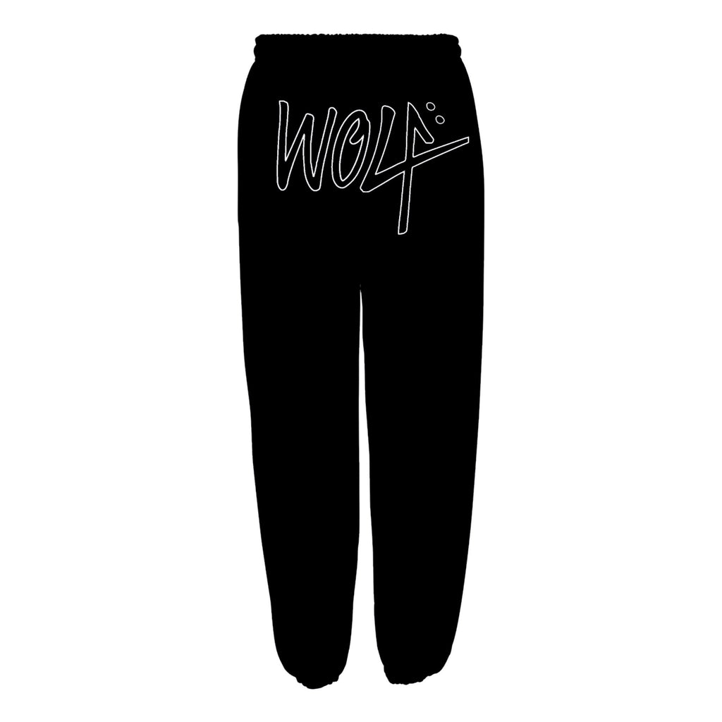 Wolf Embroidered Sweatpants