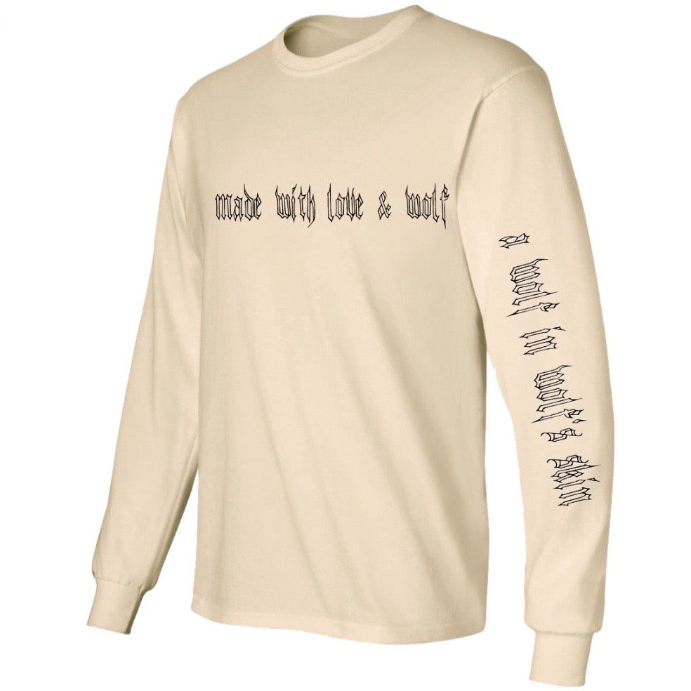 Vintage Made With Love & Wolf Long Sleeve Shirt