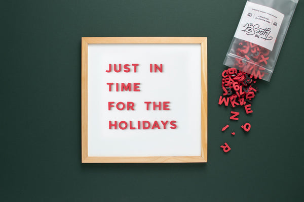 Holiday Perfect Red Magnetic Letters from The Type Set Co.