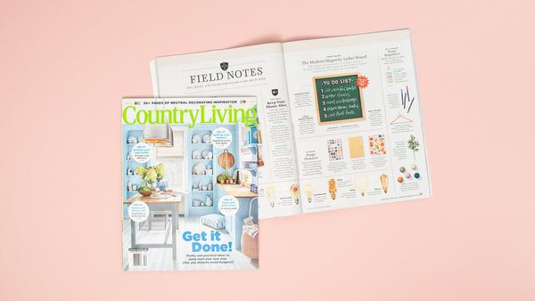 The Type Set Co. as seen in Country Living Magazine