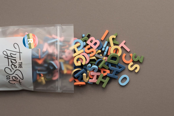 NEW! Rainbow Mod Magnetic Letters: A Vintage-Modern Color Combo