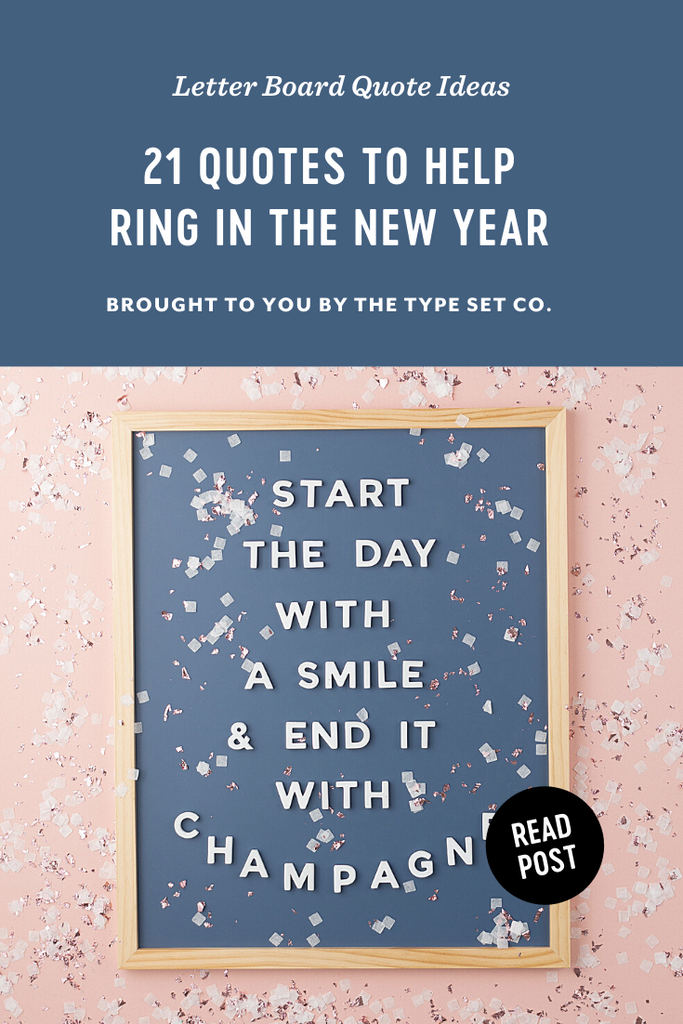 21 Letter Board Quote Ideas to Help Ring in the 2021 New Year