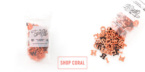 The Type Set Co. Soft Magnetic Letters in Living Coral