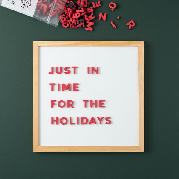 Limited Edition Christmas Red Magnetic Letters from The Type Set Co.
