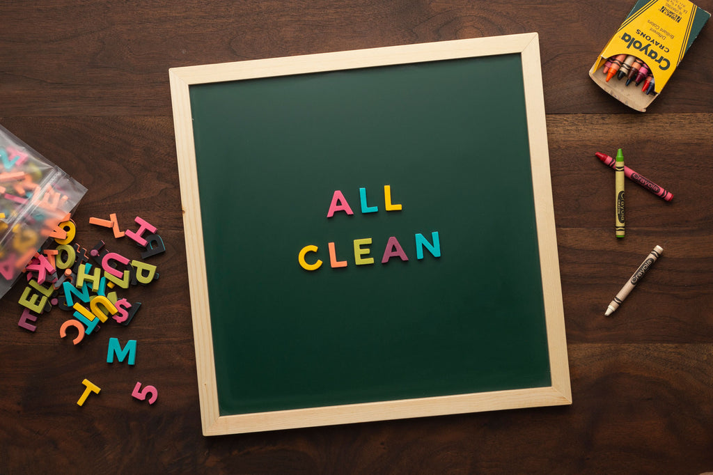 Clean crayon from your magnetic chalkboard letter board slate