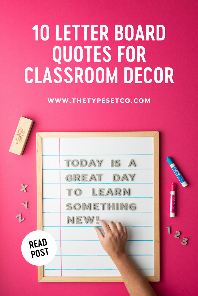 Letter Board Quotes for Classroom Decor