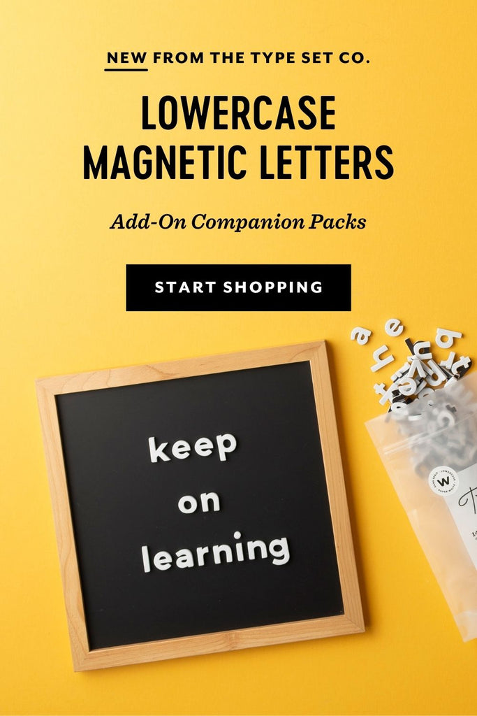 New Lowercase Magnetic Letters Add-on Pack