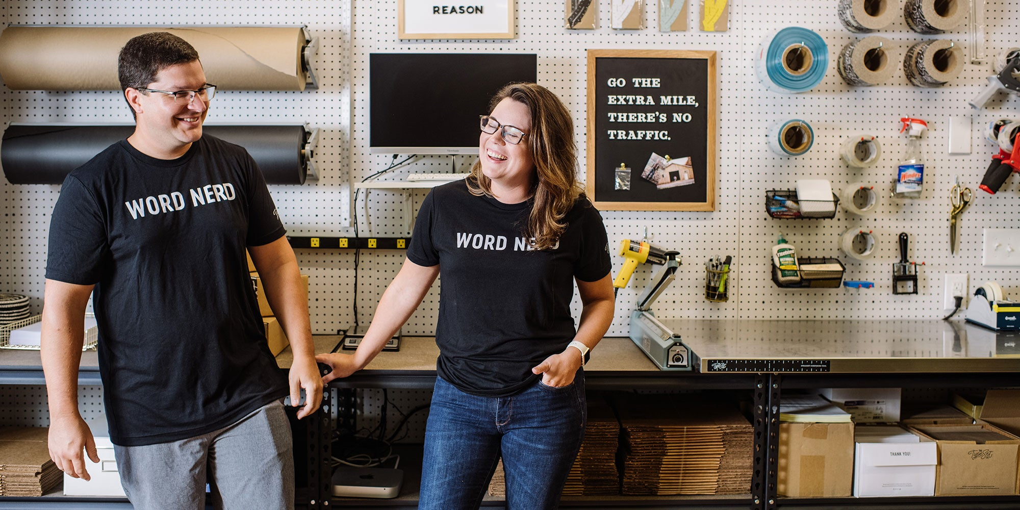 The Type Set Co. Founders Ashley and Paul Jankowski