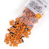 "Soft Magnetic Letters 1"" Sans Serif - Orange Cream"