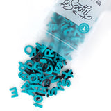 "Soft Magnetic Letters 1"" Sans Serif - Tropical Teal"